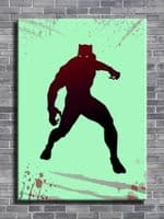 BLACK PANTHER - CUT OUT ART - REDS canvas print - self adhesive poster - photo print